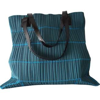 Pleats Please Blue Cloth Handbag