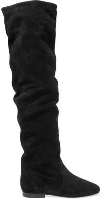 Isabel Marant Ranald Suede Over-the-knee Boots - Black