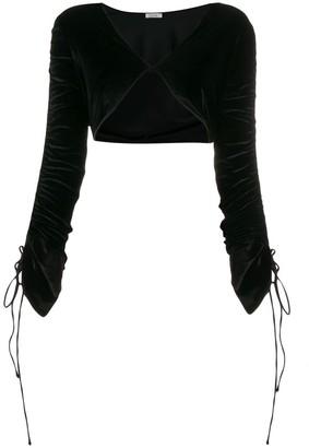 Oseree string tied bolero jacket