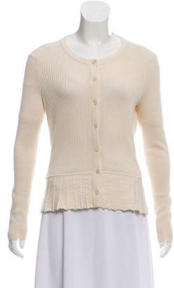 Tory Burch Button-Up Silk-Cashmere Blend Cardigan