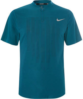 Nike Tennis Nikecourt Zonal Cooling Jersey Half-Zip Tennis Polo Shirt