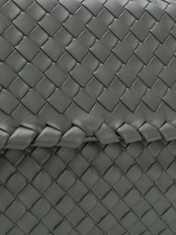 747726ec5859 Bottega Veneta new light grey Intrecciato nappa small Olimpia bag detail  image
