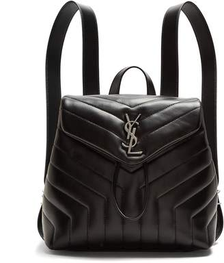 Saint Laurent Loulou small leather backpack