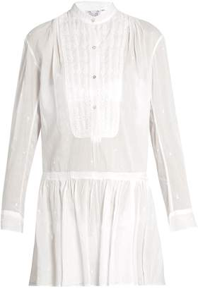 Thierry Colson Lizbeth embroidered cotton dress