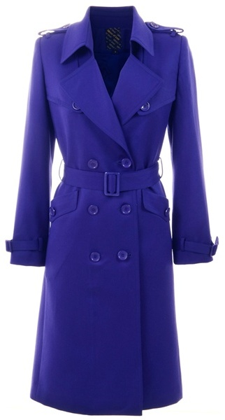 LABOUR OF LOVE - Purple wool trench coat