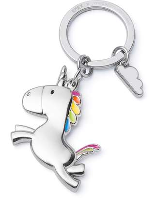 RMEX Flying Unicorn Keychain with Cloud Rainbow Key holder Fairytales Magical Shiny finish