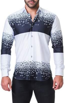 Xo Maceoo Fibonacci Degrade Print Sport Shirt