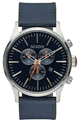 Nixon Men's Sentry Analog Quartz Leather A405 863 – 00