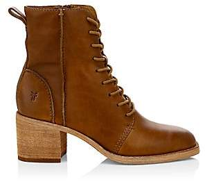 Frye Women's Monroe Seamed Lace-Up Leather Booties