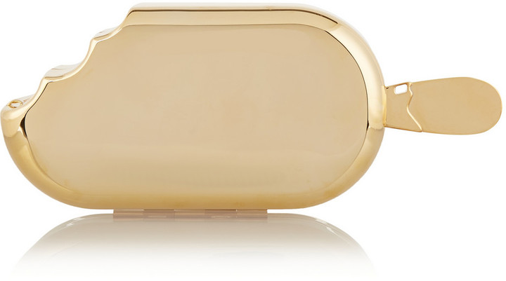 Ice Cream metallic brass clutch House of Holland