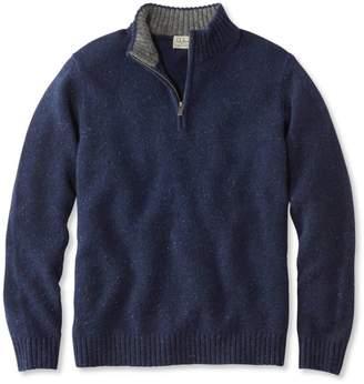 L.L. Bean L.L.Bean Shetland Wool Sweater, Quarter-Zip