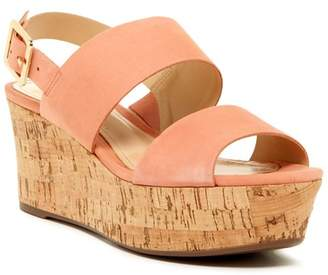 Schutz Fanika Platform Leather Wedge Sandal