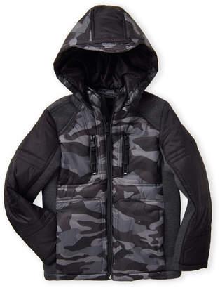 Urban Republic Boys 8-20) Camo Mix Media Hooded Coat
