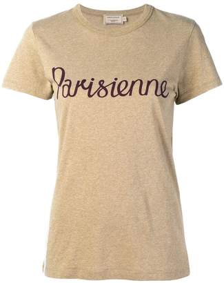 MAISON KITSUNÉ Parisienne print T-shirt
