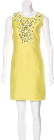 Emilio PucciEmilio Pucci Linen-Blend Embellished Dress