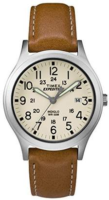 Timex Unisex TW4B11000 Expedition Scout 36 Leather Strap Watch