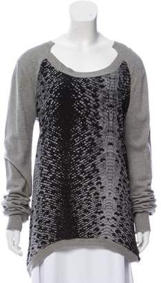 Preen Line Asymmetrical Scoop Neck Sweater