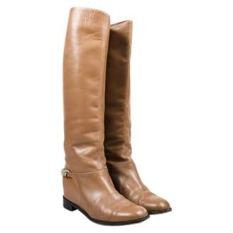 Christian Louboutin Cate Beige Leather Boots