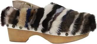 Mou Mink Wedge Sandals