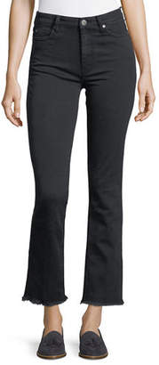 MiH Jeans Daily High-Rise Straight-Leg Jeans with Raw Hem