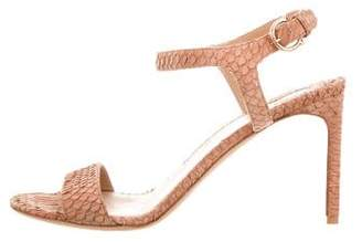Salvatore Ferragamo Snakeskin Ankle Strap Sandals