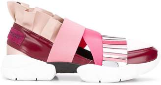 Emilio Pucci City Up Colourblock Ruffled Sneakers