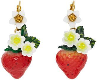 Dolce & Gabbana Multicolor Strawberry Drop Earrings