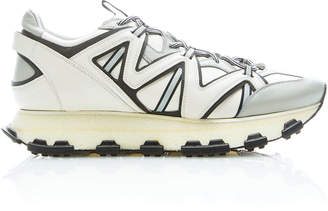 Lanvin Reflective Leather Low-Top Sneakers