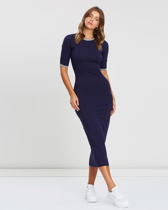 Atmos & Here Body-Con Midi Dress