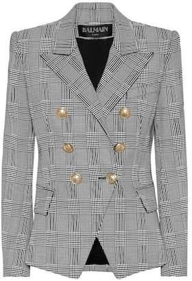 Balmain Checked stretch-cotton blazer