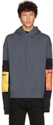 Raf Simons Grey Additional Sleeves Hoodie