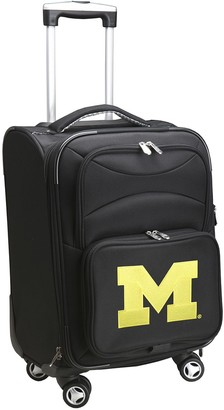 NCAA Denco Sports Luggage Michigan Wolverines 20-in. Expandable Spinner Carry-On