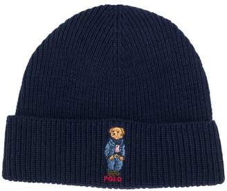 Polo Ralph Lauren ribbed knit logo beanie