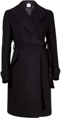 Dorothy Perkins Womens **Maternity Black Wrap Belted Coat