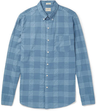 J.Crew Button-Down Collar Checked Cotton-Blend Shirt