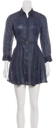 Theory Point Collar Mini Dress