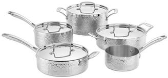 Cuisinart 9Pc Hammered Tri-Ply Stainless Steel Cookware Set
