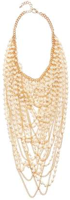 GUESS Women's Kimber Pearl Drama Necklace