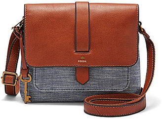 Fossil Kinley Chambray Small Cross-Body Bag $108 thestylecure.com
