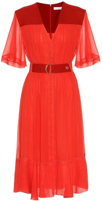 Chloé Silk-blend crepe midi dress