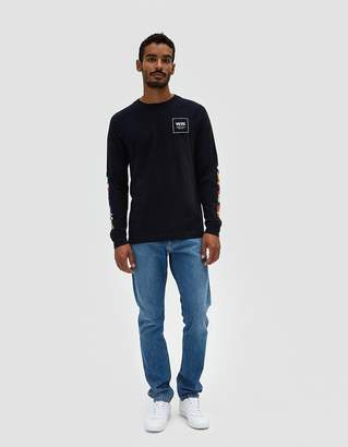 Wood Wood Han Longsleeve T-Shirt in Navy
