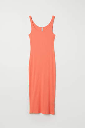 H&M Ribbed Dress - Orange