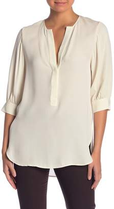 Theory Billow Sleeves Silk Blouse