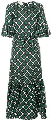 La DoubleJ Curly Swing patterned dress
