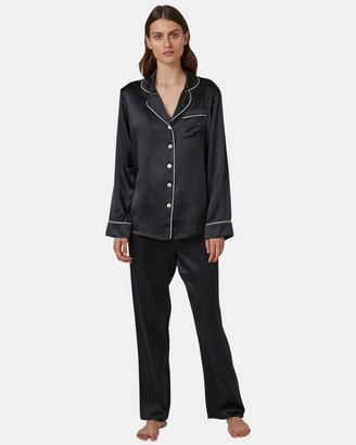 Silk Pyjamas With Contrast Piping