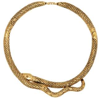Aurelie Bidermann Tao 18kt Gold Plated Snake Choker - Womens - Gold