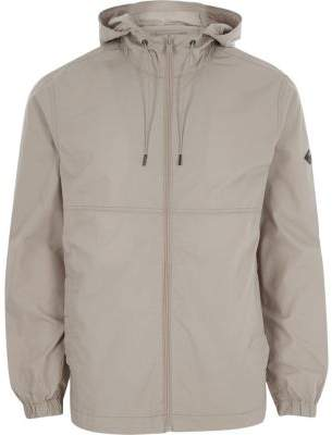 River Island Only and Sons grey hooded jacket