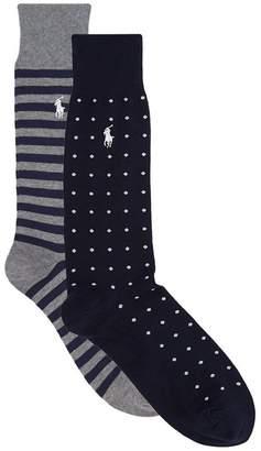 Ralph Lauren Polka-Dot and Stripe Socks (Pack of 2)