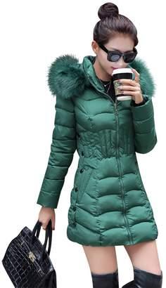 Mojessy Women's Parka Winter Coat Overcoat Long Down Jacket Outwear XXX-Large
