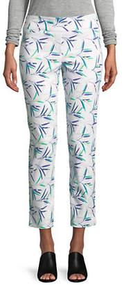 Isaac Mizrahi IMNYC Slimming Ankle-Length Straight-Leg Pull On Pants